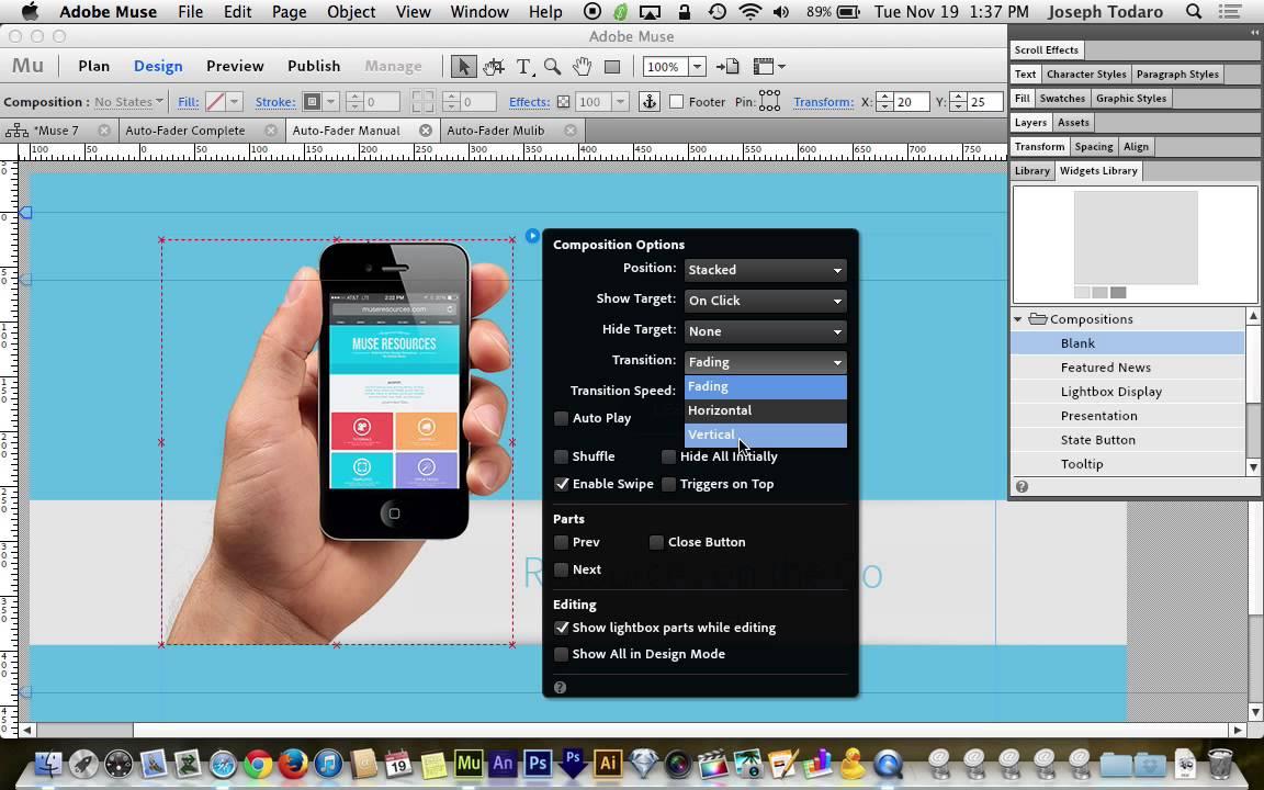 Adobe muse cc 70 tutorial auto fading design elements youtube baditri Choice Image