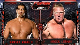 WWE Brock Lesnar vs The Great Khali FULL MATCH - RAW 2/1/17