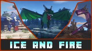 "Minecraft: ""By the Gods...A Dragon!"" -  Ice and Fire 1.15.2/1.12.2 Mod Showcase"