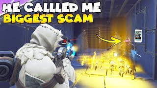 Ele ligou para o meu telefone no Big Trade! 😱 (scammer gets scammed) Fortnite salvar o mundo