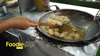 Fried Banana Snacks, Banana Molen(Pisang Molen) / Indonesian Street Food / Central Java, Indonesia