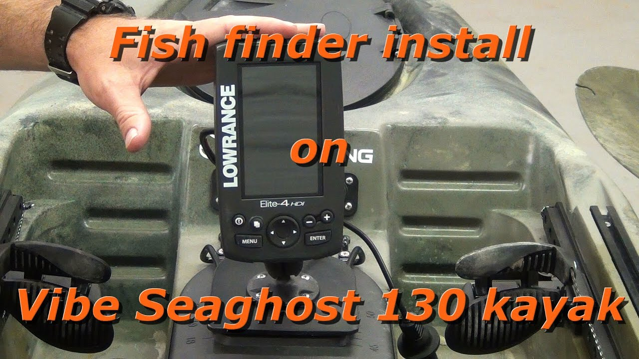 how to install fish finder on kayak