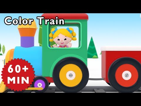 Nursery Rhymes Mother Goose Club | Learn Colors with COLOR TRAIN | Kids Songs | Songs for Children