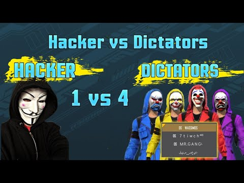 World Most Dangerous Hacker In Free Fire || Hacker Vs Dictators || 1 Vs 4 Clash Squad Who Will Win ?
