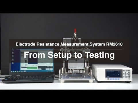 Hioki Electrode Measurement System RM2610 - From Setup to Testing