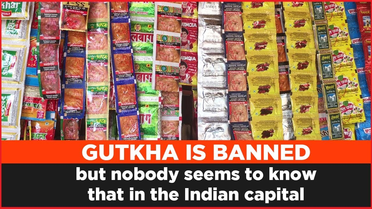 gutkha is banned but nobody seems to know that in the indian capital - youtube