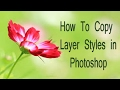 Easy way to Copy Layer Styles in Photoshop ( in Tamil )