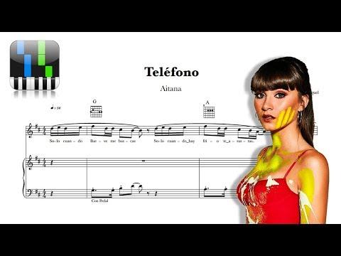 ⭐-telÉfono---aitana-/-tutorial-piano-+【partitura-gratis】