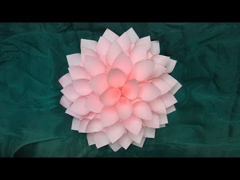 #paperflower How to Make Paper Dahlia/ Paper Flower/ Giant Paper Flower || DIY Paper Flower