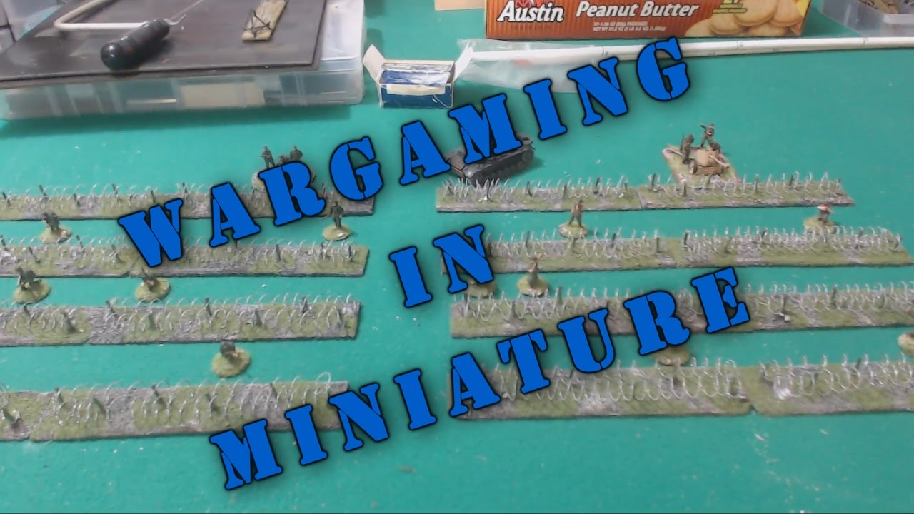 How to Make Barbed Wire Obsticles for your Wargames - YouTube