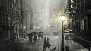 """In the rain"" Romantic sleep music  - Were you a dream.."