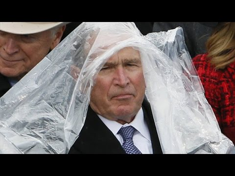 George W. Bush Was Really Struggling At Trump's Inauguration