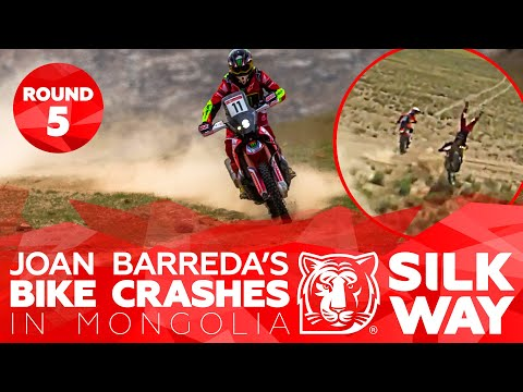 Joan Barreda's bike crashes in Mongolia | Silk Way Rally 2019 🌏 RUS - Stage 5