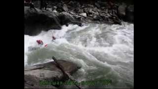 Водный туризм. Сплав на катамаранах по горным рекам Кавказа. 2010г.