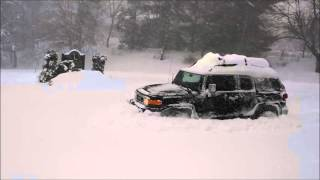 Stock FJ Cruiser in the snow