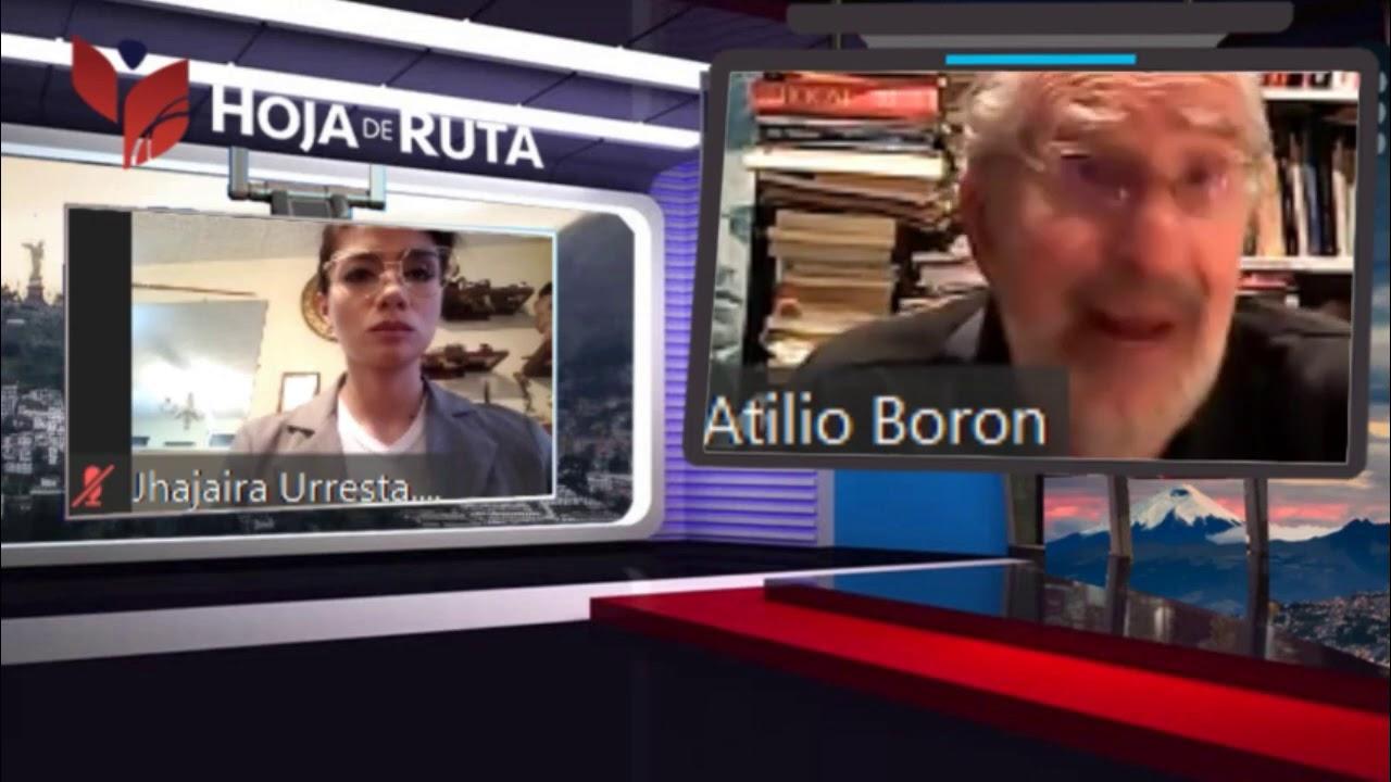 Jhajaira Urresta entrevista a Atilio Boron en Especiales de Hoja de Ruta