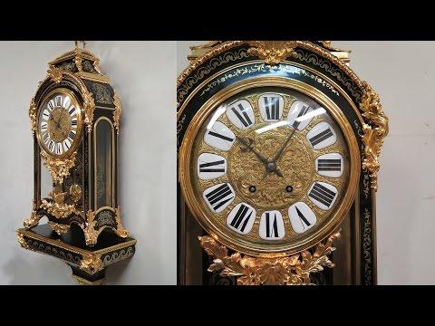 Restaurēts pulkstenis bula tehnikā. Conservation of a Boulle Marquetry Clock.