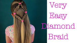 Very Easy Diamond Braid hair tutorial by Two Little Girls Hairstyles