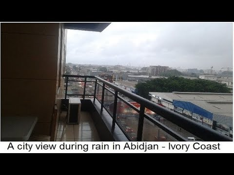 A view of city during rain in Abidjan - Ivory Coast