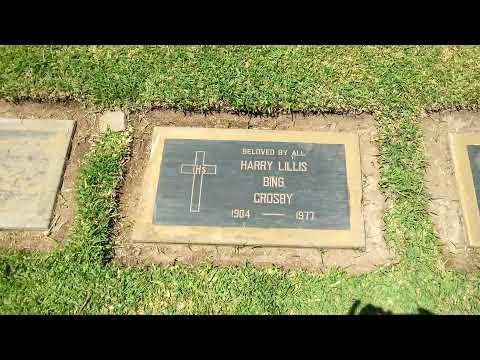 Bing Crosby, Holy Cross Cemetery,  Culver City, CA