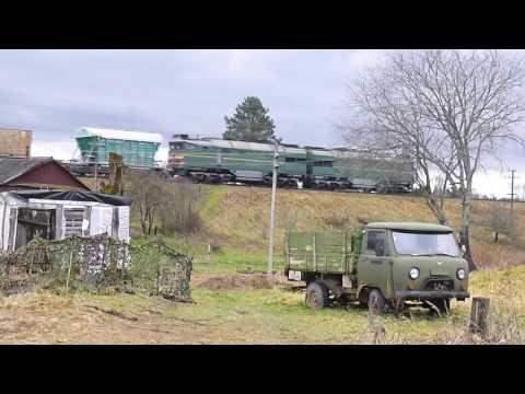 2ТЭ116-1561 с грузовым составом. Торошино.