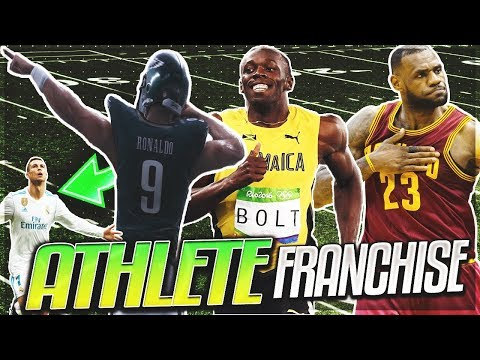 Usain Bolt  Cristiano Ronaldo  Lebron At WR Is SCARY  ALL ATHLETE NON NFL MADDEN FRANCHISE MODE