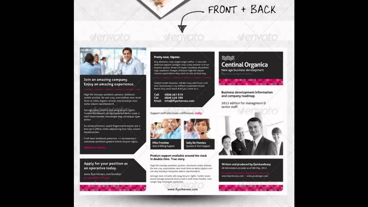Corporate Business Brochure PhotoShop Template YouTube - Brochure photoshop template