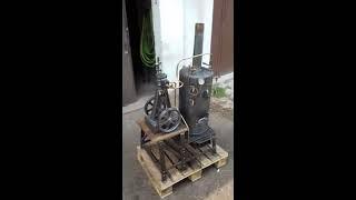 Premier essai d'une petite machine à vapeur