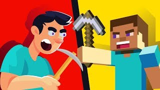 YOU vs MINECRAFT STEVE - WHO WOULD WIN || FUNNY ANIMATION