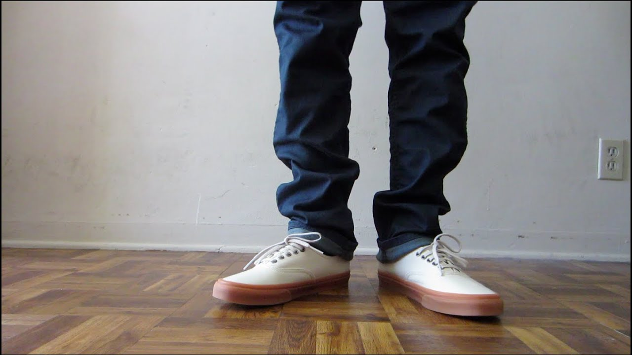 vans gum sole on feet
