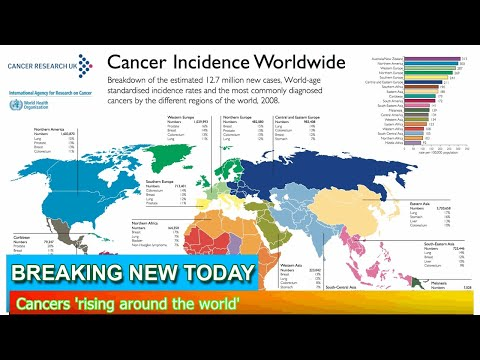 Breaking News - Cancers 'rising around the world'