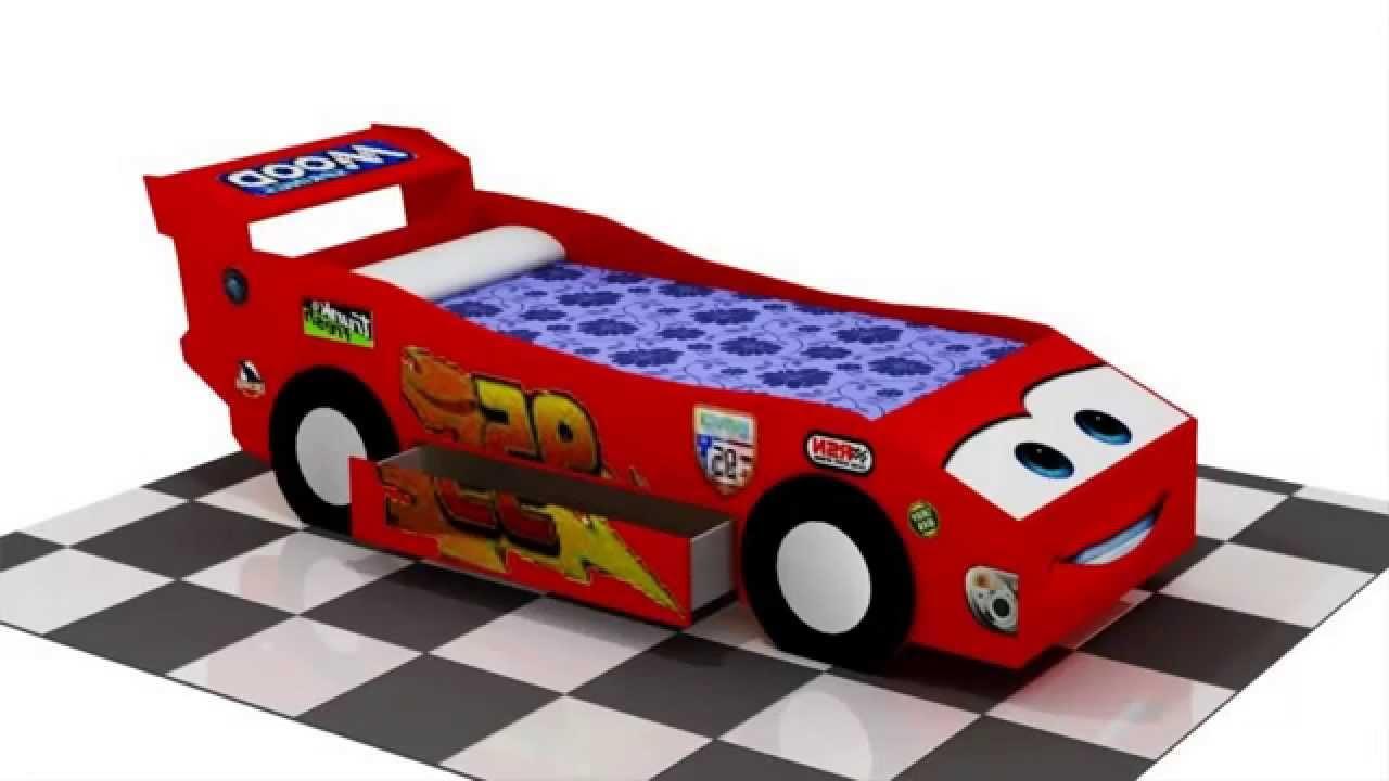 Hacer cama de cars resumen youtube - Camas infantiles de cars ...