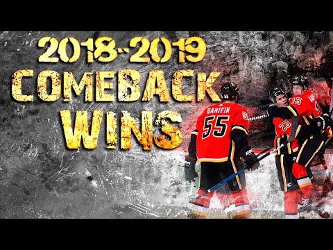Calgary Flames Comeback Wins - 2018/2019 Season