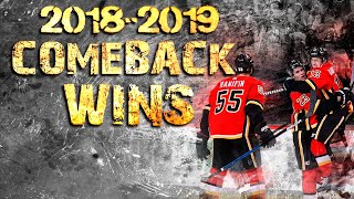 Calgary Flames Comeback Wins   2018/2019 Season