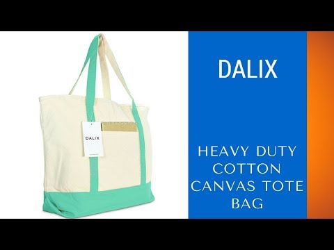 Best Canvas Beach Travel Tote - Dalix 22″ Heavy Duty Cotton Canvas Tote Bag Review