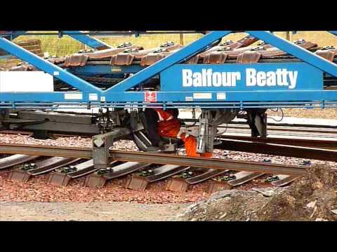 Balfour Beatty track laying machine