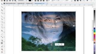 Создание нового изображения из двух фотографий в CorelDRAW X8