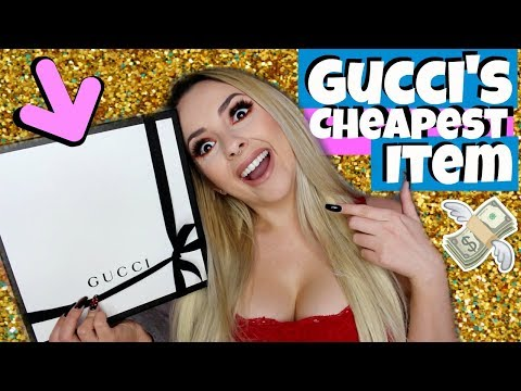 I BUY THE CHEAPEST THING ON GUCCI  *actually*