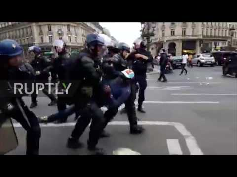 France: Police chase protesters rallying against pro-DRC government singer