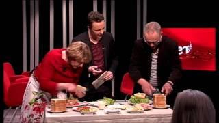 Sven Ekberg och Karin Fransson gör mackor