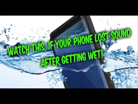 WATCH THIS if your Phone Lost Sound Volume after getting Wet!
