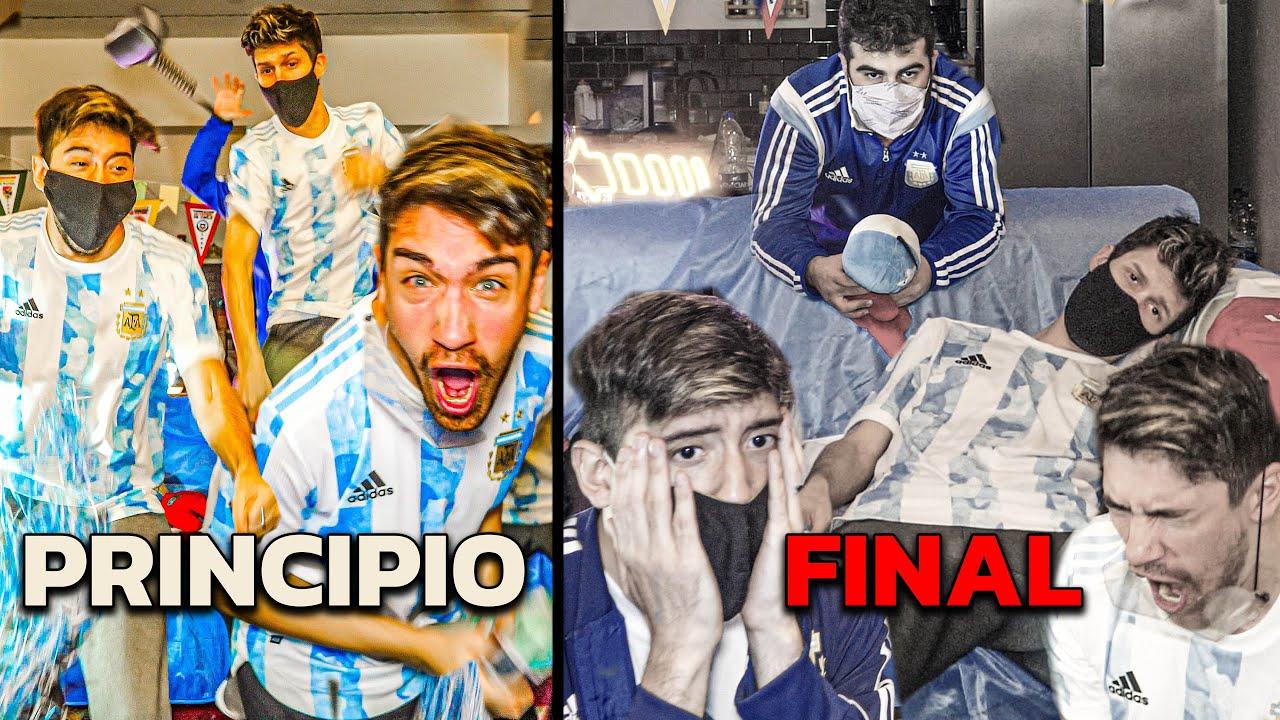 Reacciones de amigos | Argentina vs Chile | Copa América 2021