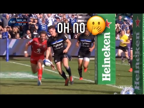 How Bath fans reacted to Freddie Burns mistake vs Toulouse