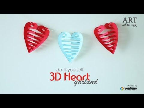 How to make diy heart garland youtube solutioingenieria Gallery