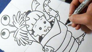 "Cómo dibujar a Boo ""Monster inc"" | How to draw Boo"