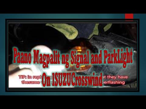 Signal and Park light Replacement on ISUZU Crosswind