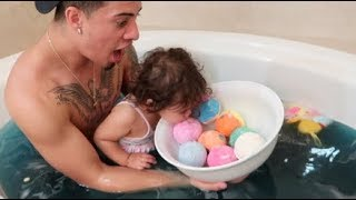 Download BABY BATH CHALLENGE!!! Mp3 and Videos