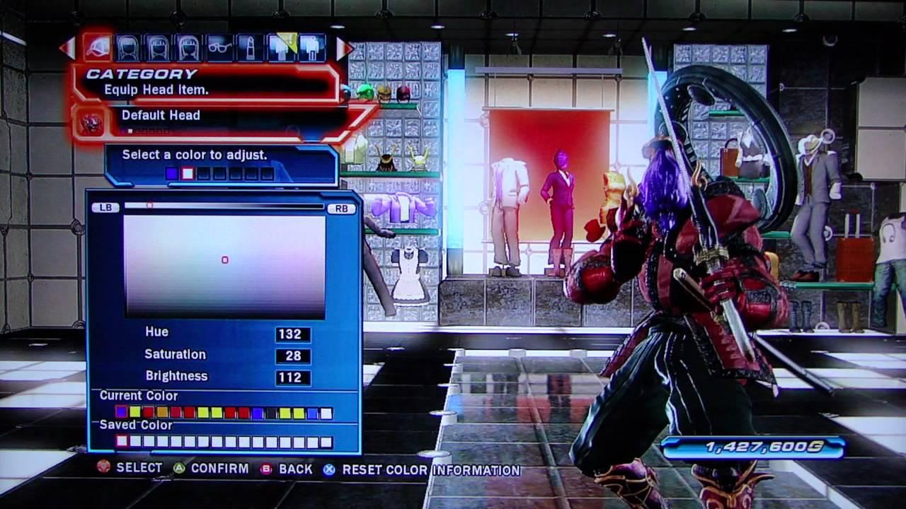 Tekken tag tournament 2 yoshimitsu character customization youtube