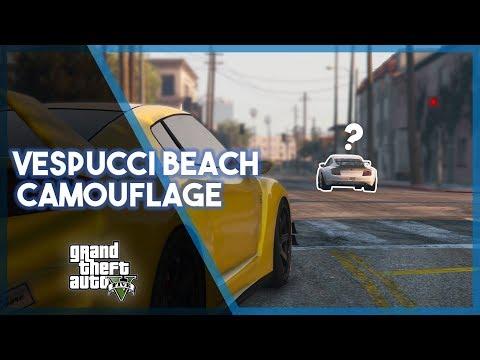 GTA 5 Online   Vespucci Beach Camouflage! (Funny Moments & Fails)