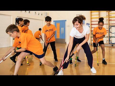 When Emma Watson surprised hockey kids at East London school